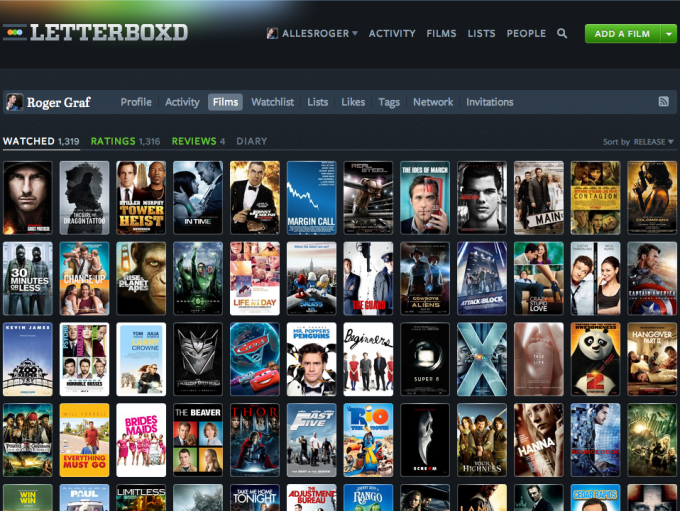 Letterboxd - Social Media at the Movies